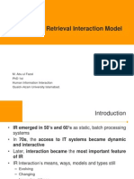 Human Information Retrieval Model