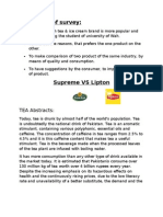 Marketing survey on Supreme Vs Lipton