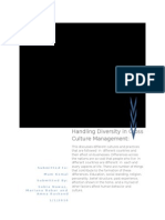 Handling Diversity in Cross Culture Management