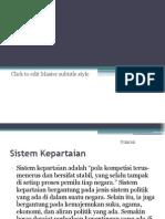 Sistem Kepartaian Dan Sejarah Singkat Perkembangan Kepartaian Di Indonesia