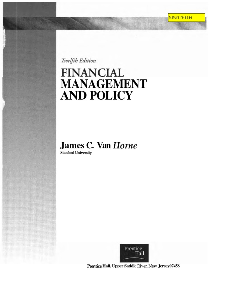 Financial management policy by james c van horne 12th edition financial management policy by james c van horne 12th edition capital structure investing fandeluxe Images