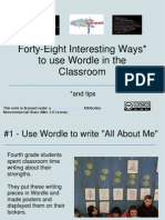 48 Interesting Ways to Use Wordle in the Clas