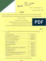 CA IPCC NOV 2010 QUSTION PAPER 4