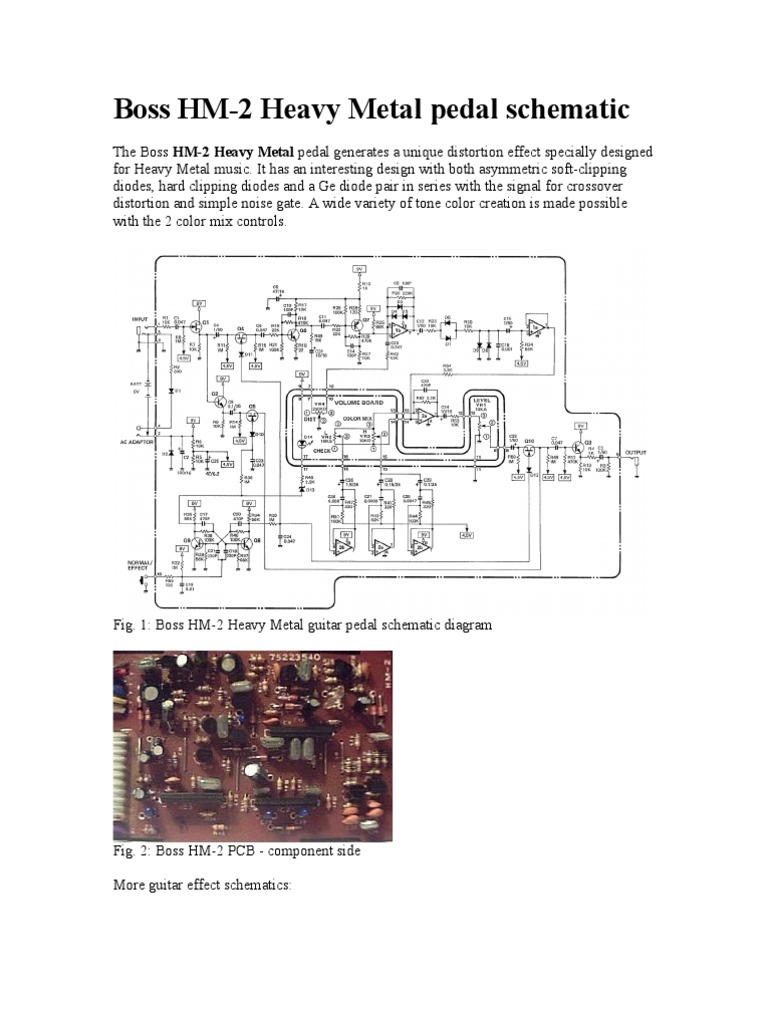 Heavy Distortion Pedal Schematics Electrical Wiring Diagrams Wah Diagram Boss Schematic Tube