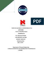 Chemical Engineering Internship Report at Noon Sugar Mills Ltd. Distillery
