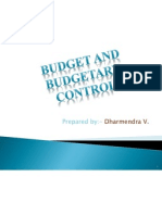 Budgetary Control by Dhaval
