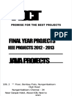 NCCTFinal Year Projects, Java IEEE 2012 Communication Projects