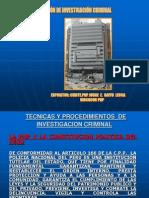 Tecnicas y Procedimientos de Investigacion Criminal