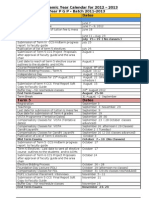 PGP Academic Calendar for 2012-13