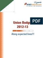 union budget 2012-13