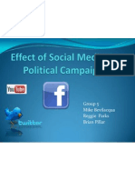 Effect of Social Media on Political Campaigns