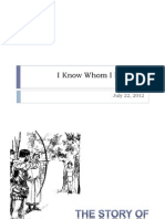 I Know Whom I Believed (Powerpoint)