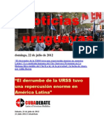 Noticias Uruguayas Domingo 22 de Julio Del 2012