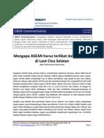 CBDS Commentaries No.1 2012 ASEAN Dan Laut Cina Selatan