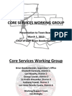 CORE WORKING GROUP REPORT TOWN OF BROOKHAVEN NY