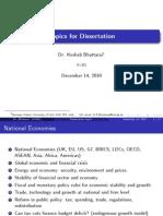 Research Methods Topics