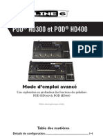 POD HD300 Advanced Guide - French ( Rev D )