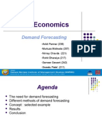 MicroEconomics Demand Forecasting Final 050910