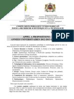 Appel Propositions Tuniso Marocain 2