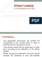 The Contract Labour-Regulation and Abolition Act-1970