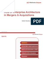 Role of Enterprise Architecture in M&a--V1.1