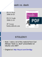 Bash vs Dash