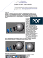 Blender Creacion de Un Ojo Estilo Pixar