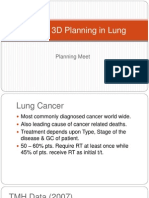 2D and 3D Planning in Lung