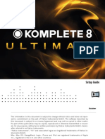 Komplete 8 Ultimate Setup Guide English