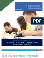 Contenidos Pruebas Obligatorias y Electivas PSU