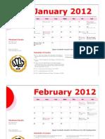Minakami Karate 2012 Calendar