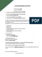 Liste Fournitures CP