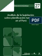 GPC - Análisis de la legislación sobre planificación territorial en el Perú