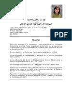 Cv Cristina Del Mastro (DAP)