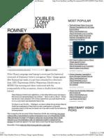 DNC Chair Doubles Down on 'Felony' Charge Against Romney