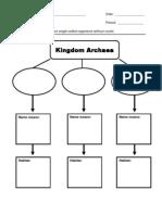 Archaea Graphic Organizer