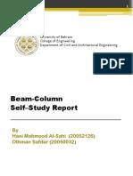 Beam-Column Self Study Report by Othman and Hani