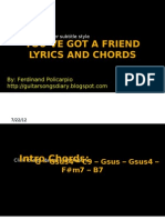 Youve Got a Friend Chords and Lyrics