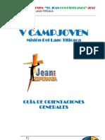 Orientaciones Generales V CampJoven MLT 2012 COMPLETO