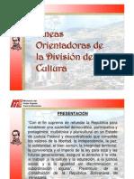 10 Lineas Orientadoras Cultura 2011 2012