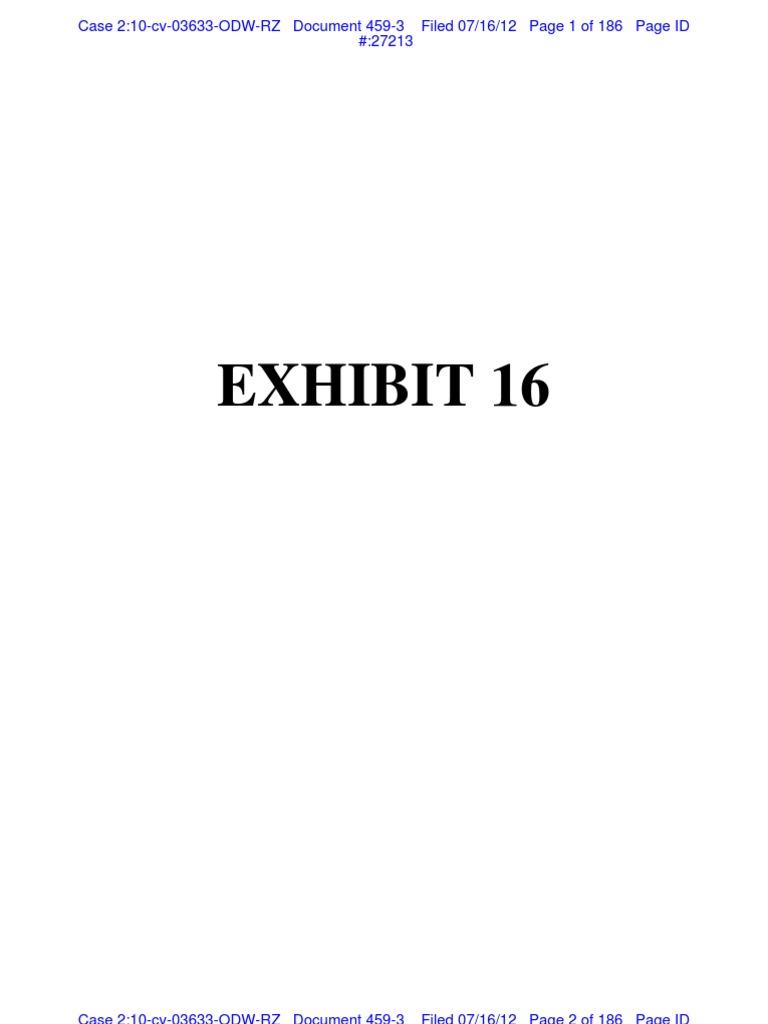 Petrocelli 0716 Exhibits 3 Key Documents In Siegel Shuster