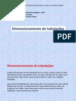 dimensionamento de tubulações