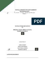 50843100 Textile Industry Internship Report