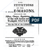 The Constitutions of the Free-Masons 1723
