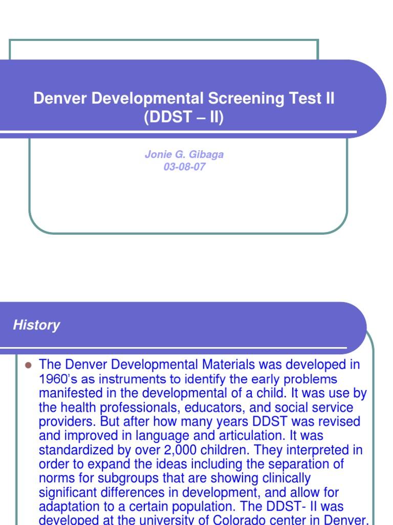 The denver developmental screening test ii