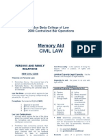 Memory Aid-CIVIL (Property)