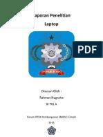 Laporan Penelitian Laptop
