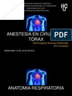 Anestesia para Cirugia de Torax