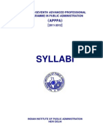 37th APPPA Syllabus