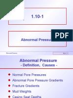1.10 Abnormal Pressure